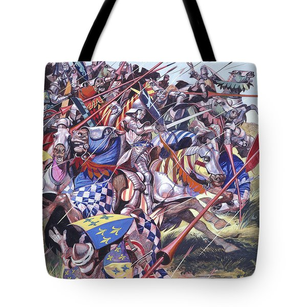 Agincourt The Impossible Victory 25 October 1415 Tote Bag by Ron Embleton