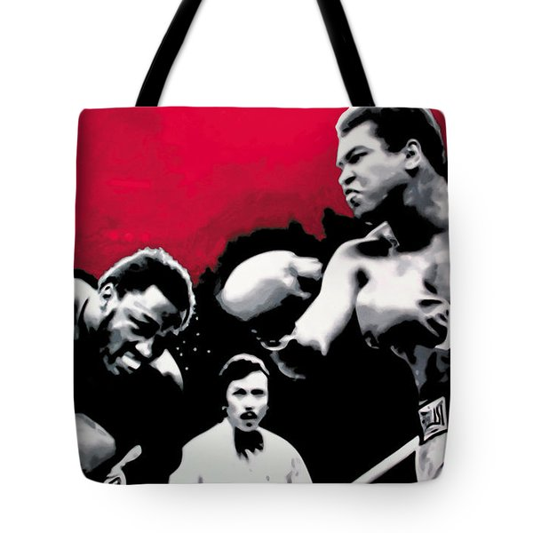 - Ali Vs Fraser - Tote Bag by Luis Ludzska