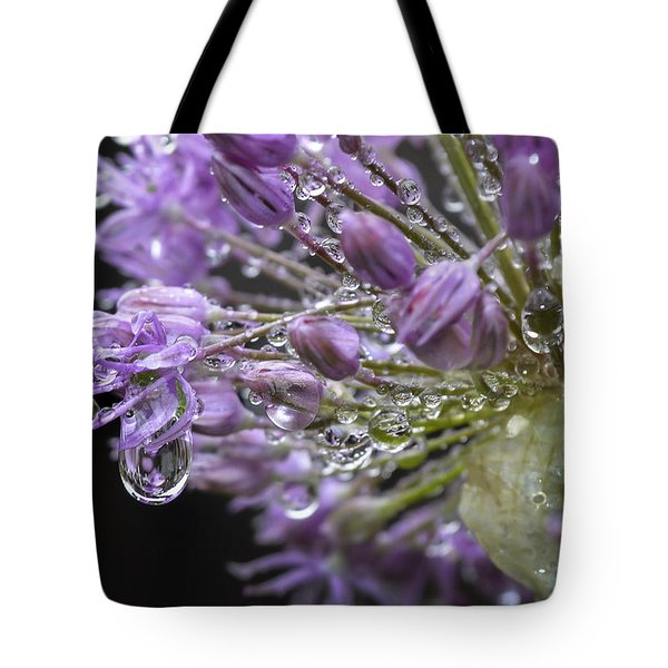 Allium Drips 123 Tote Bag