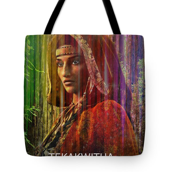 Tote Bag featuring the digital art  American Vision by Suzanne Silvir