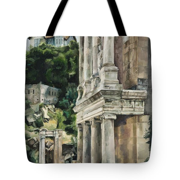 Ancient Amphitheater Tote Bag
