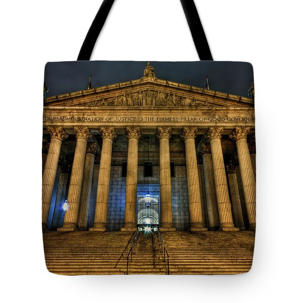... And Justice For All Tote Bag by Evelina Kremsdorf