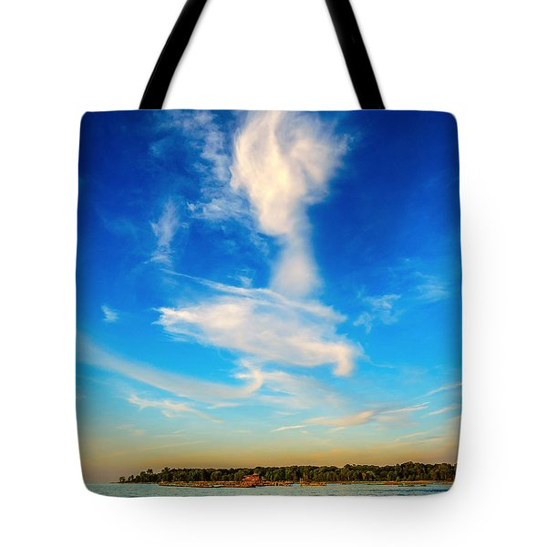 Tote Bag featuring the photograph  Angel  Walking On Air  by Glenn Feron