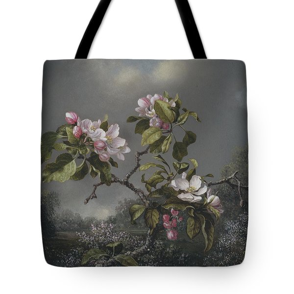 Apple Blossoms And Hummingbird Tote Bag