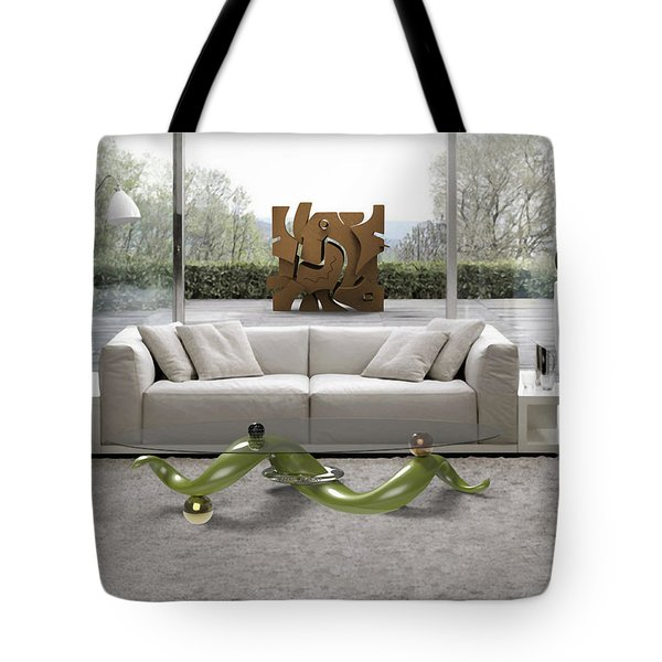' Azteca Scape ' And 'a Twisted Table ' Tote Bag