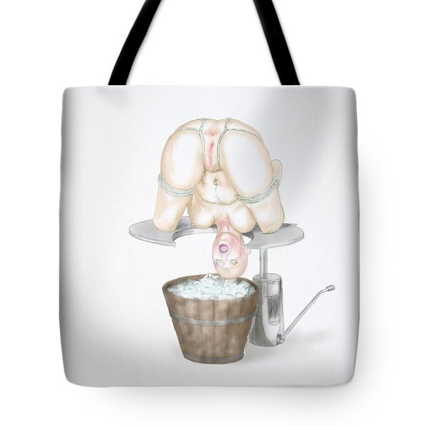 Tote Bag featuring the mixed media  Behavior Control by TortureLord Art