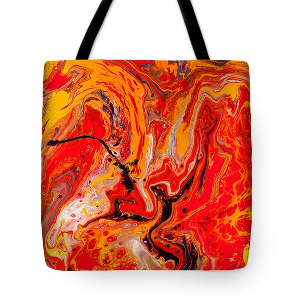 Belly Dancers - Abstract Colorful Mixed Media Painting Tote Bag