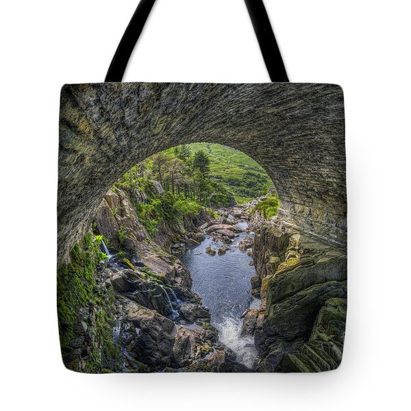 Benglog Waterfall Tote Bag by Ian Mitchell