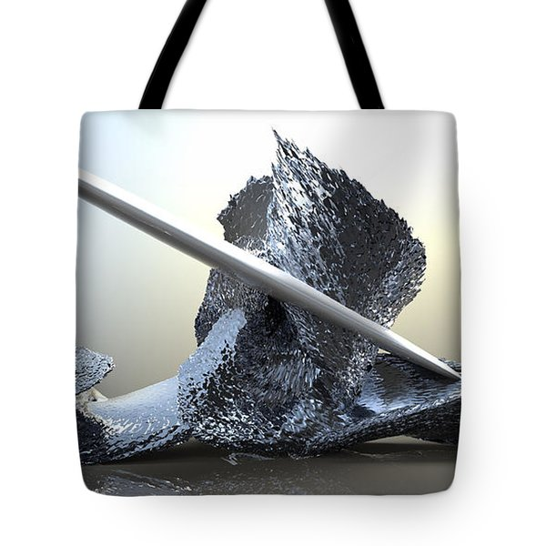 ' Big Blue Wipeout ' Tote Bag