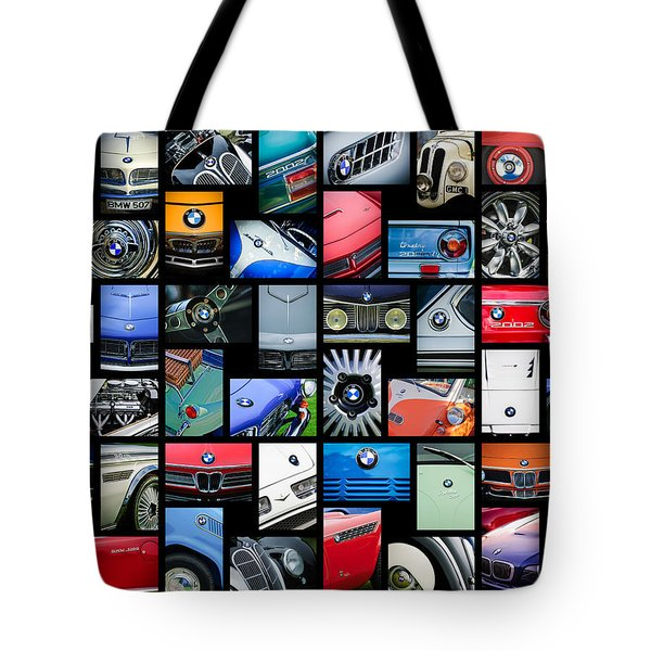 Tote Bag featuring the photograph  Bmw Art -01 by Jill Reger