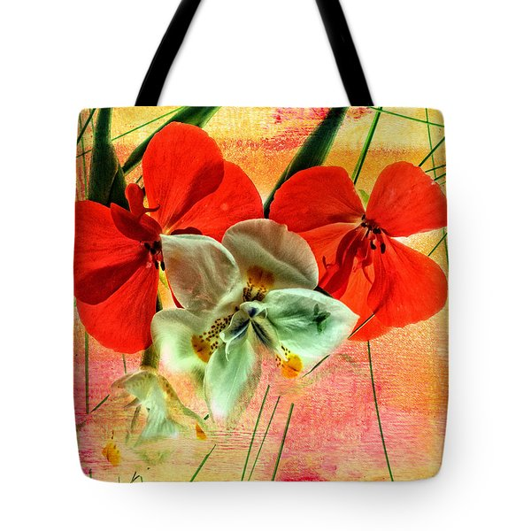 Bougainvillea And Paper White Tote Bag