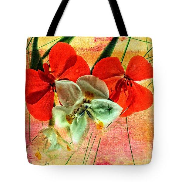 Bougainvillea And Paper White Tote Bag