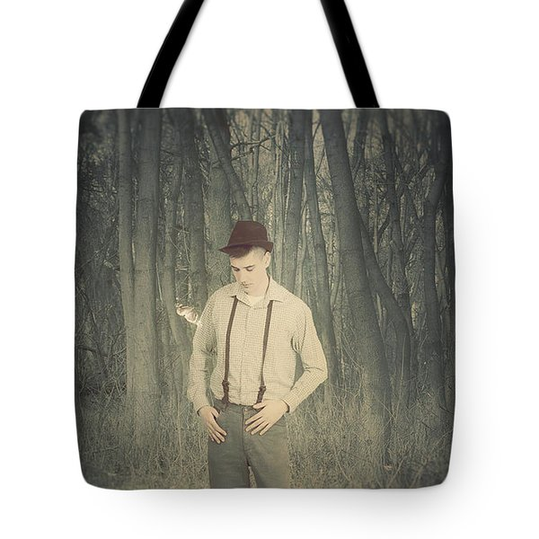 -boy And Butterfly- Tote Bag