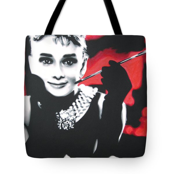 - Breakfast At Tiffannys -  Tote Bag by Luis Ludzska