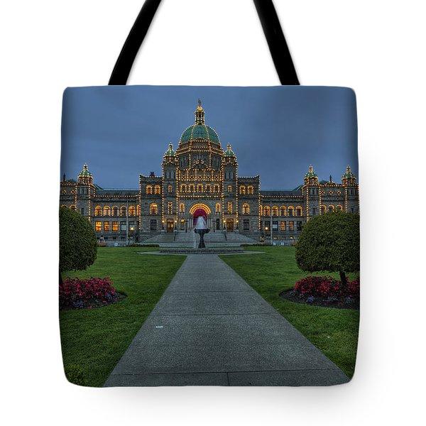 British Columbia Parliament Buildings Tote Bag