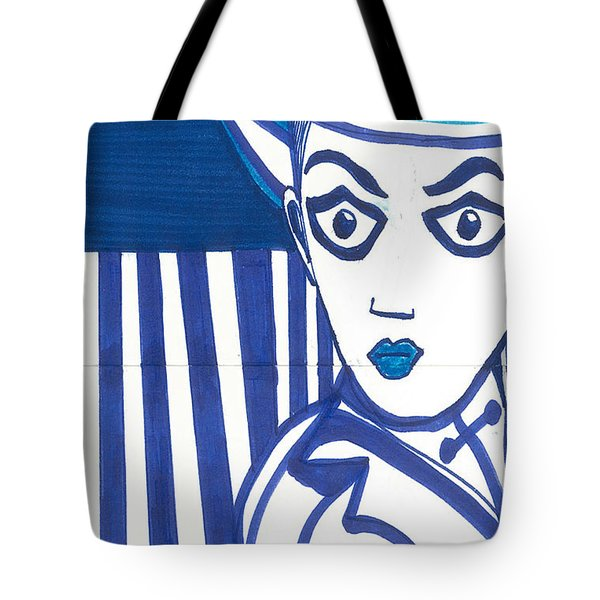 Tote Bag featuring the painting  Cabaret by Don Koester