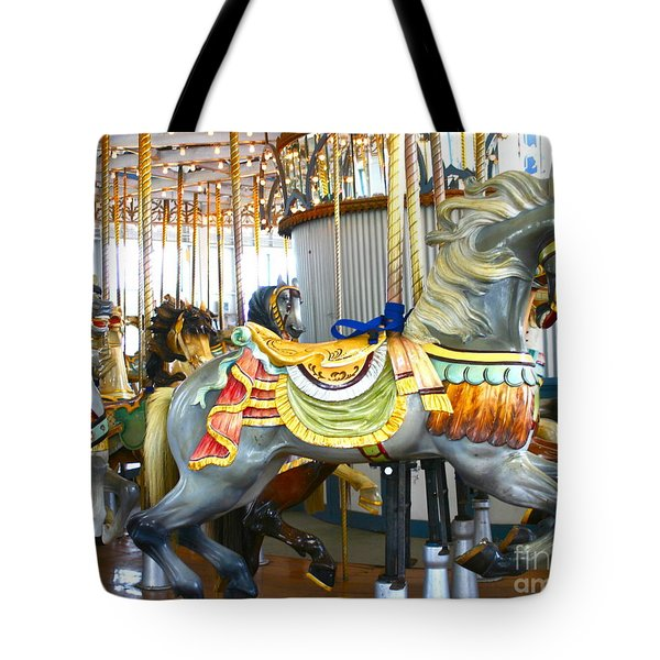 Tote Bag featuring the photograph  Carousel C by Cindy Lee Longhini