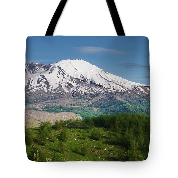 Castle Lake And Mt. St. Helens Tote Bag