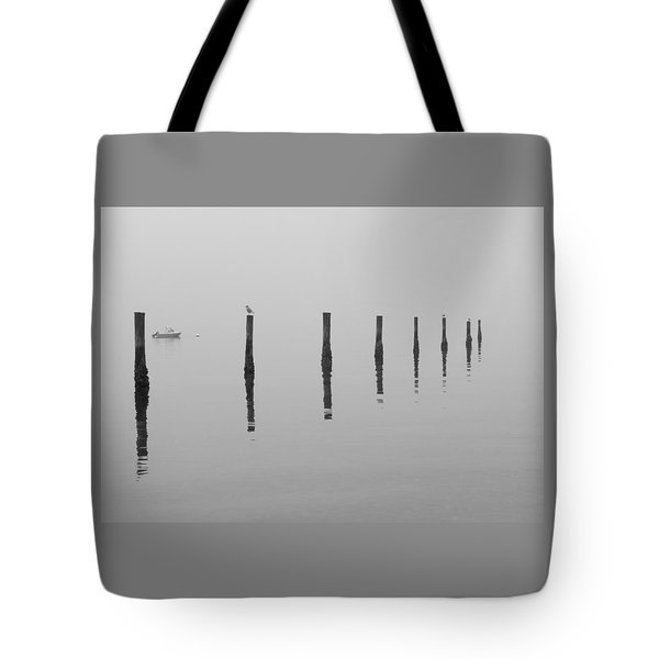 Fog And Reflections Tote Bag