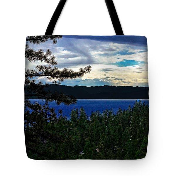 Chrystal Blue Waters Tote Bag by B Wayne Mullins