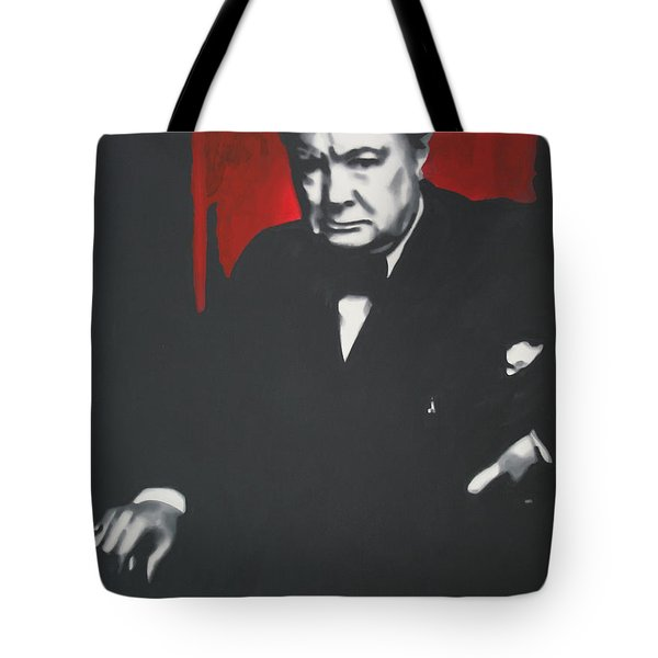 - Churchill - Tote Bag by Luis Ludzska