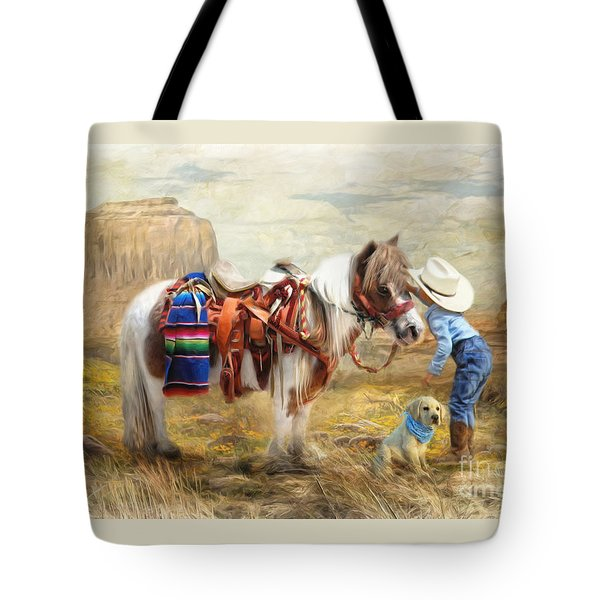 Cowboy Up Tote Bag