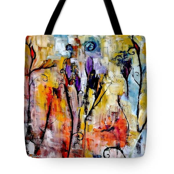 Crazy Messy Fall Yard Art Tote Bag
