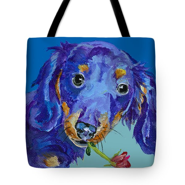Dach Tote Bag by Pat Saunders-White