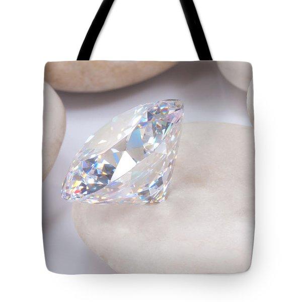 Diamond On White Stone Tote Bag