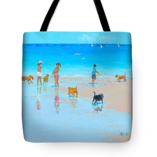Dog Beach Day Tote Bag