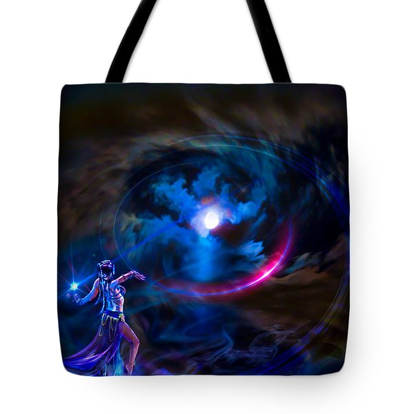 Tote Bag featuring the photograph  Entrancing The Mystical Moon by Glenn C Feron