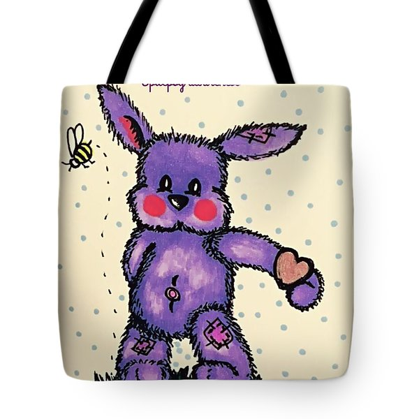 Epilepsy Awareness Bunny Tote Bag