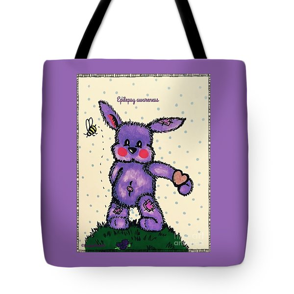 Epilepsy Awareness Bunny Tote Bag