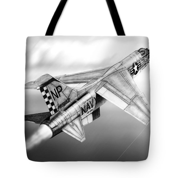 F-8e Crusader Drawing Tote Bag
