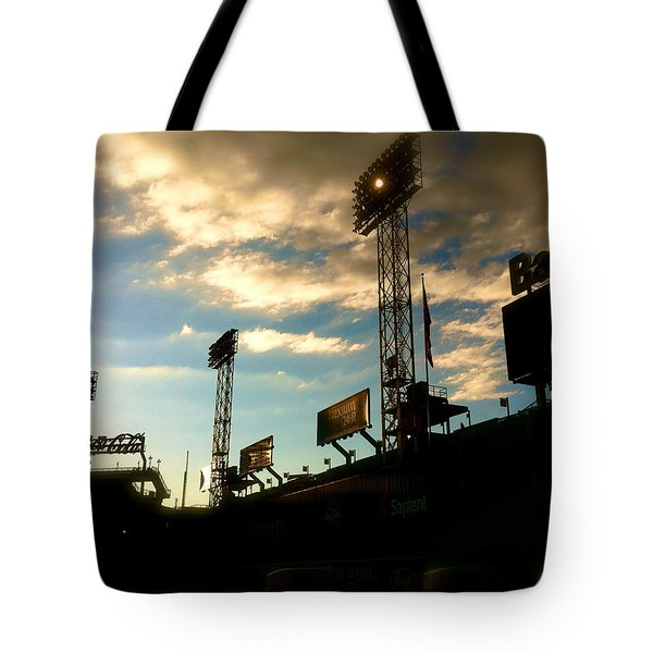 Fenway Lights Fenway Park David Pucciarelli  Tote Bag