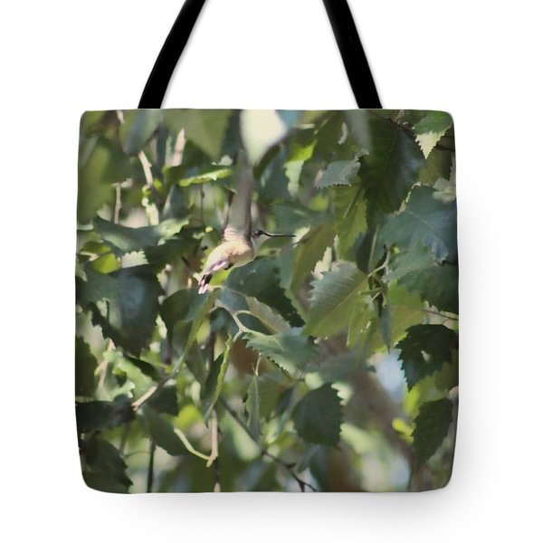 Flight Of The Hummingbird Tote Bag