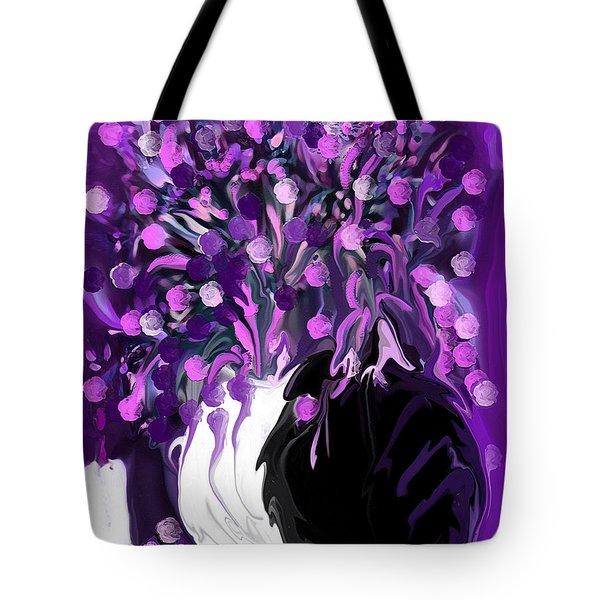 Flower Art Love Purple Flowers  Love Pink Flowers Tote Bag