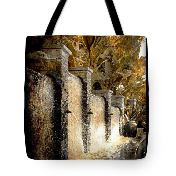 Tote Bag featuring the photograph   Flowing Waterfall  by Athala Carole Bruckner