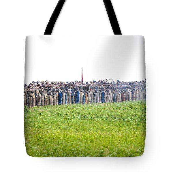 Gettysburg Confederate Infantry 0157c Tote Bag