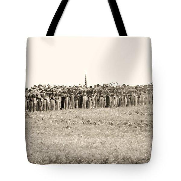 Gettysburg Confederate Infantry 0157s Tote Bag