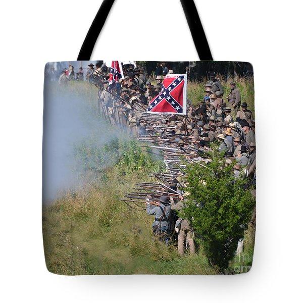 Gettysburg Confederate Infantry 8769c Tote Bag