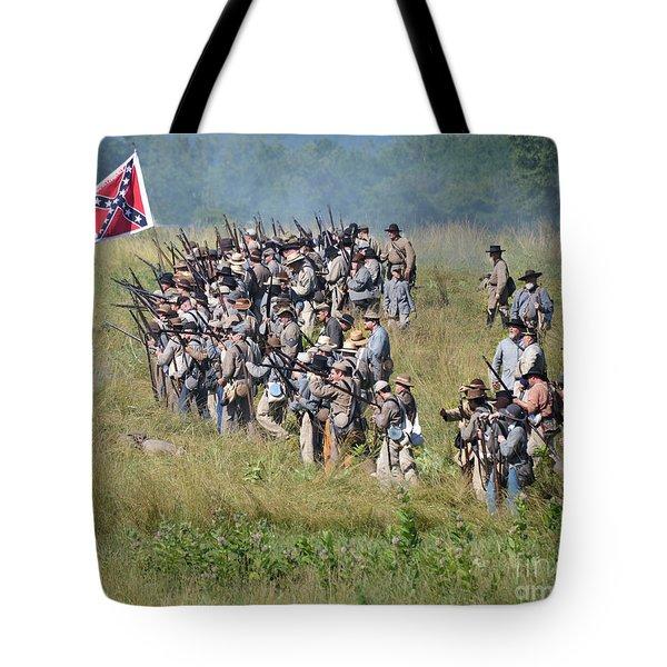 Gettysburg Confederate Infantry 9015c Tote Bag