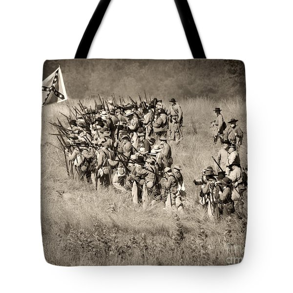Gettysburg Confederate Infantry 9015s Tote Bag