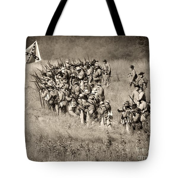 Gettysburg Confederate Infantry 9015s Tote Bag