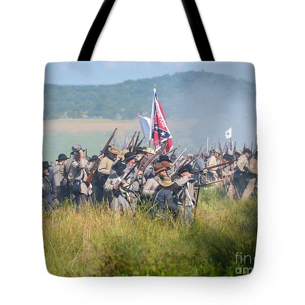 Gettysburg Confederate Infantry 9214c Tote Bag