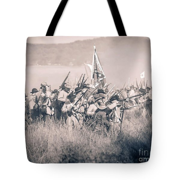 Gettysburg Confederate Infantry 9214s Tote Bag