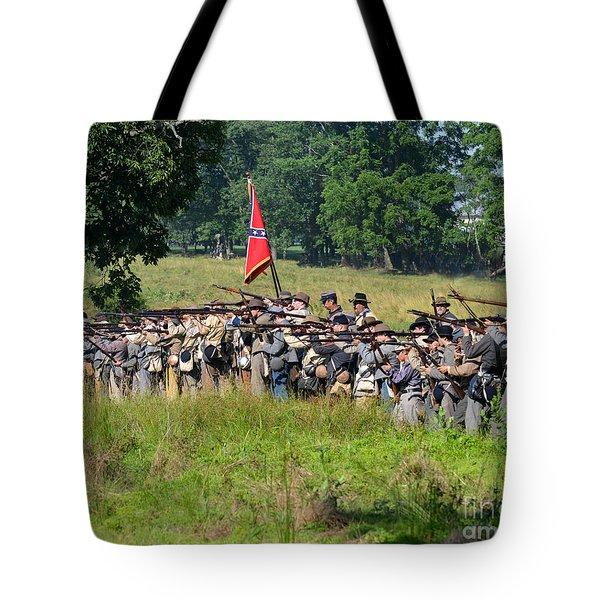 Gettysburg Confederate Infantry 9270c Tote Bag