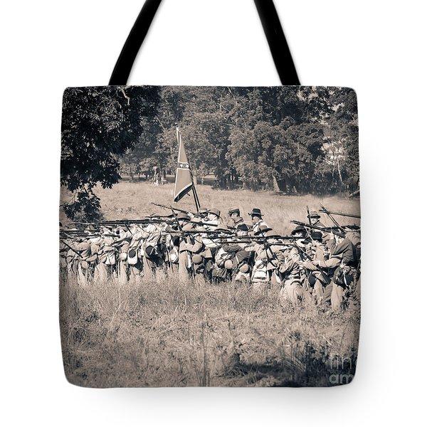 Gettysburg Confederate Infantry 9270s Tote Bag
