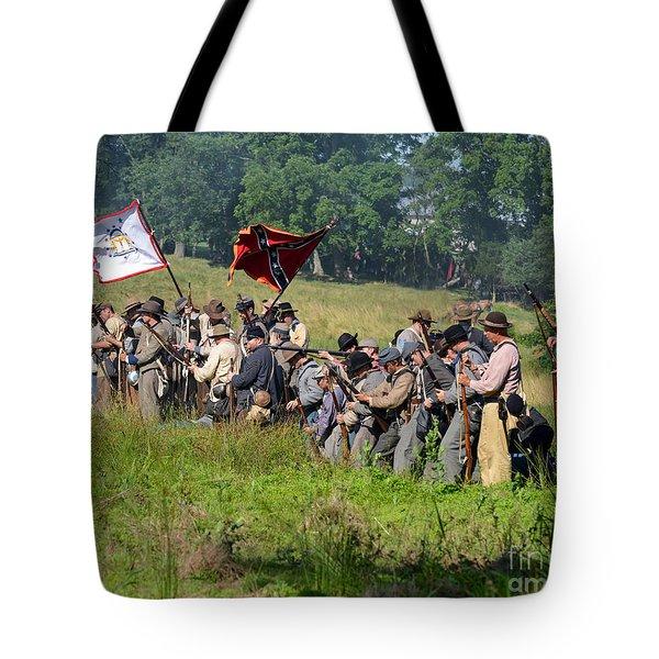 Gettysburg Confederate Infantry 9281c Tote Bag