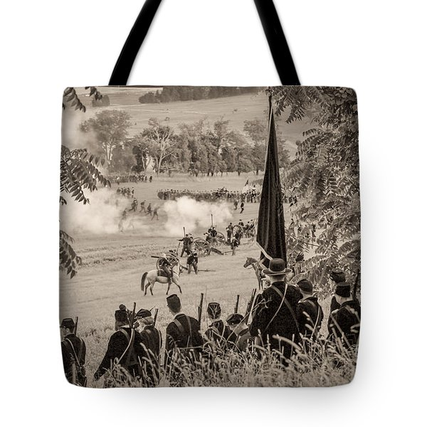 Gettysburg Union Artillery And Infantry 7457s Tote Bag